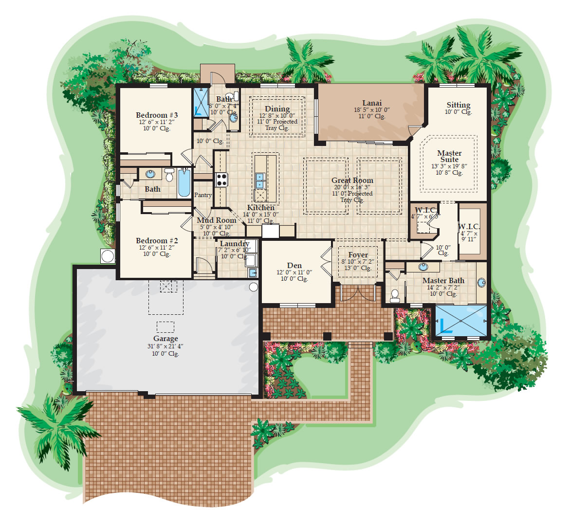 The Edgewater Floor Plan
